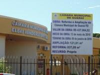 Câmara de Guaraí irá investir em reforma e ampliação do prédio.