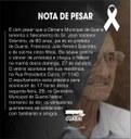 Câmara Municipal de Guaraí emite nota pesar, pelo falecimento do pai do ex-prefeito de nossa cidade.